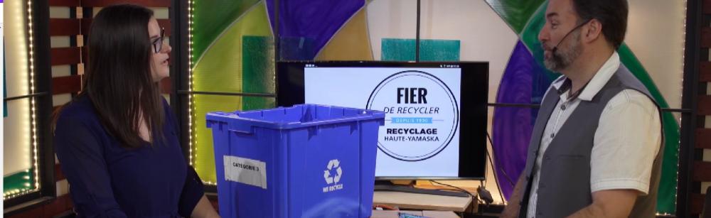 Tout sur le recyclage : la MRC de La Haute-Yamaska à l'émission Reflets