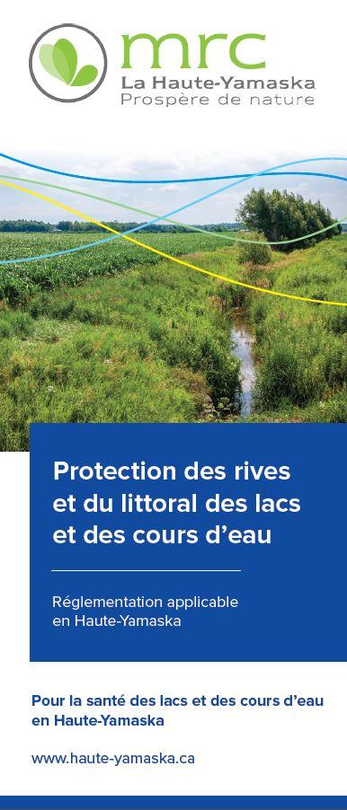 Dépliant sur la protection des rives et du littoral des lacs et des cours d'eau