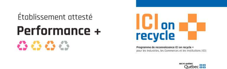 ICI on recycle + : la MRC de La Haute-Yamaska obtient la certification Performance +