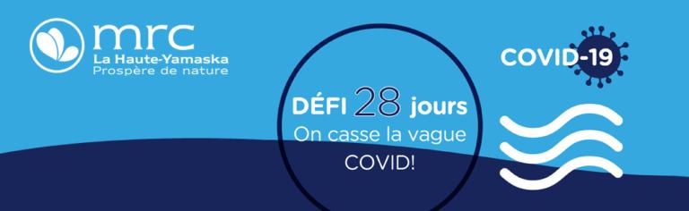 Pour ralentir la COVID-19, la MRC de La Haute-Yamaska appuie le Défi 28 jours